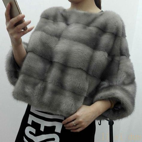 Lisidun2018naturalfull Pelt Real Mink Fur coat  female Tendency Batwing Sleeve Outwear Coats Genuine Mink Fur Pullover  Clothes. Yesterday's price: US $1100.00 (957.66 EUR). Today's price: US $484.00 (431.49 EUR). Discount: 56%.