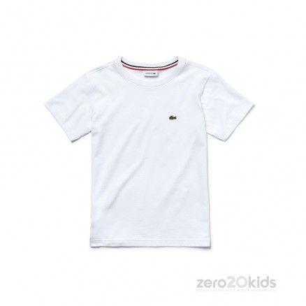 LACOSTE Boys/' Crew Neck Cotton Jersey T-shirt