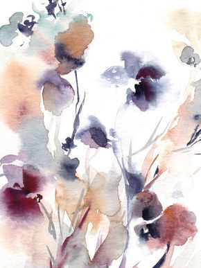 Abstraktes Aquarell Das Ursprungliche Malerei Mit Blumen Von