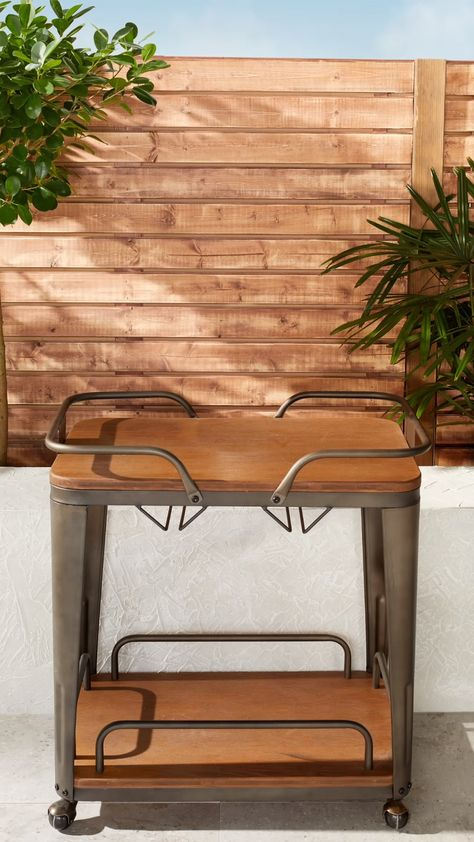 Carbon Loft Pemberton Metal/ Wood Industrial Bar Cart - N/A