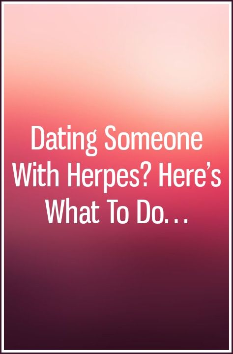 dating a man with herpes