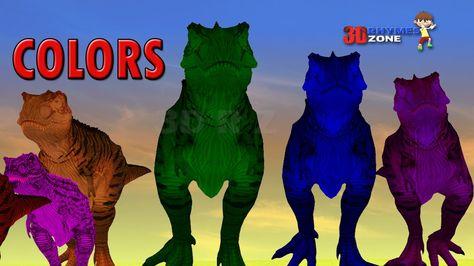 Dinosaurs Colors Song Learn Colors 3d Lesson Nursery Children Colors Video