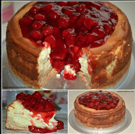 Sugar Cookie Cherry Cheesecake