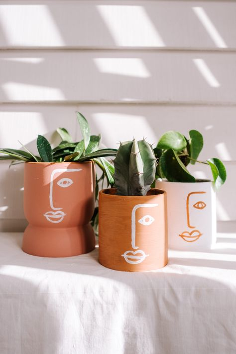 Make These Easy Face Art Planters