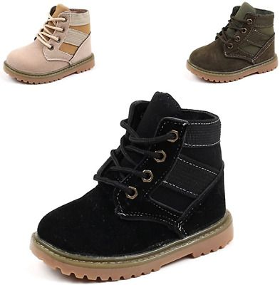 Toddler Little Kids Baby Girl Boy Winter Warm Plush Lined Ankle Snow Boot Shoes High-top Sneaker for 1-6 Years