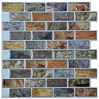 Slate Stone Style Peel And Stick Wallpaper 20 5 In X 18 Ft Roll Wallpaper Amazo Kitchen Tiles Backsplash Tile Backsplash Kitchen Backsplash Peel And Stick