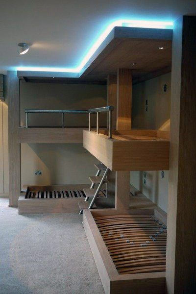 Top 70 Best Bunk Bed Ideas Space Saving Bedroom Designs Cool Bunk Beds Bunk Beds Bunk Bed Designs