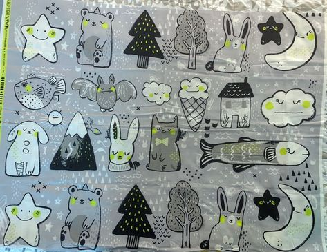 "Cotton + Steel ""Sleep Tight"" by Sarah Watts fabric, 32""x44"""