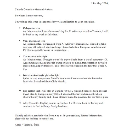 vize başvurusu niyet mektubu canada visa Pinterest - invitation letter for us visa