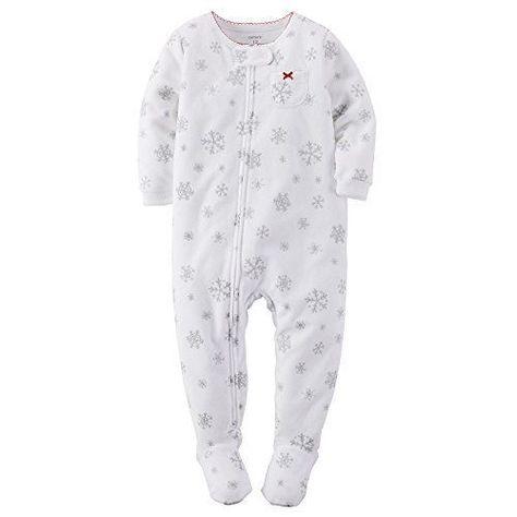 c704f21c7552 Carter s Baby Girls Footed 1 Piece Fleece Sleeper Pajamas 3t ...