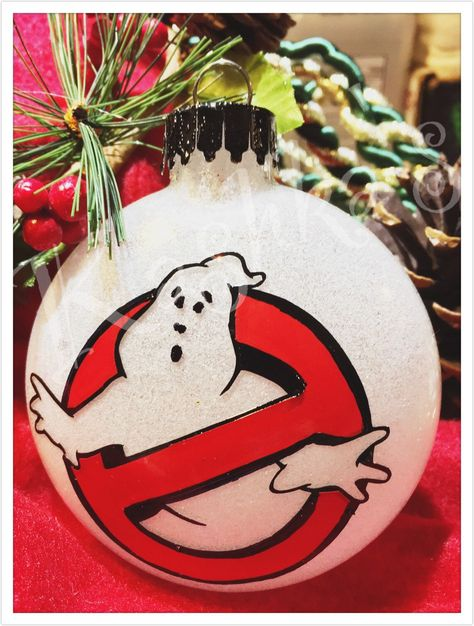 Excited to share this item from my #etsy shop: Ghostbusters Christmas  ornament Ghostbusters movie logo inspired Stay Puft marshmallow man  Ghostbusters gift ... - Ghostbusters Christmas Ornament Ghostbusters Movie Logo Inspired