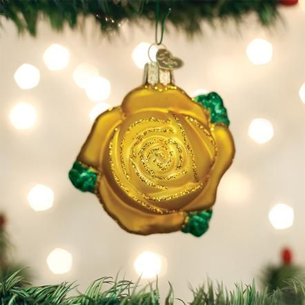 Yellow Rose Ornament Old World Christmas Old World Christmas Ornaments Christmas Ornaments Yellow Ornaments