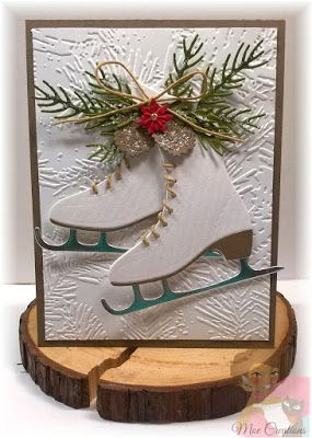 Amy Designs Cutting Dies New Out Christmas 0003 Ice Skates