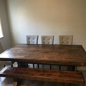 27++ Farmhouse trestle table with bench inspiration
