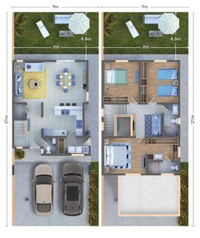 Bienvenido A La Casa Bermellon Casas Planos De Casas Planos De Casas 10x20