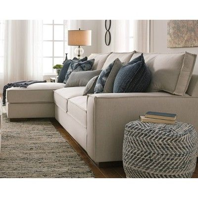 Chevron Pouf Blue Signature Design By Ashley Furniture Sofa