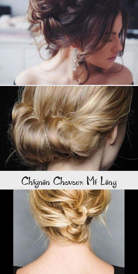 Chignon Cheveux Mi Long Coiffure Simple Et Facile Cheveuxmilongado Cheveuxmilongcoloration Cheveuxmilongcuivre Cheveuxmilongviolet C In 2020 Carey Corinne Cesar