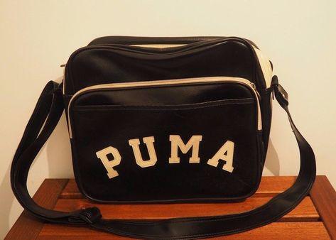 7bff748d6c Puma Originals Reporter black and ivory Messenger Bag rn 62200  PUMA   MessengerShoulderBag