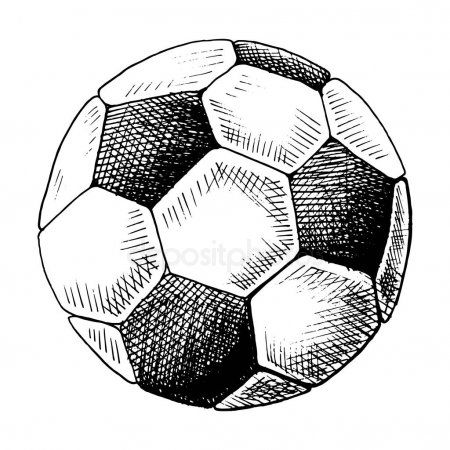 Football Sketch Hand Drawn Soccer Ball Sketch Style Vector Illustration Singl Spon Drawn Soccer Hand Soccer Ball How To Draw Hands Football Drawing