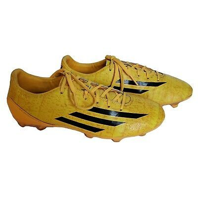 Details about ADIDAS F10 Messi Yellow Indoor Soccer Cleats