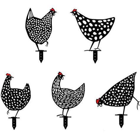 Haan Metaal Dier Silhouet Stake Voor Yards Levensechte Kip Silhouet Decoratieve Tuin Stakes Metalen Kip Schaduw Deco In 2021 Tuinkunst Achtertuin Kippenhokken Metaal