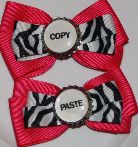 Twins Bow Bows for Twins Twins Gift Twins Baby Shower by bowsforme, $11.99