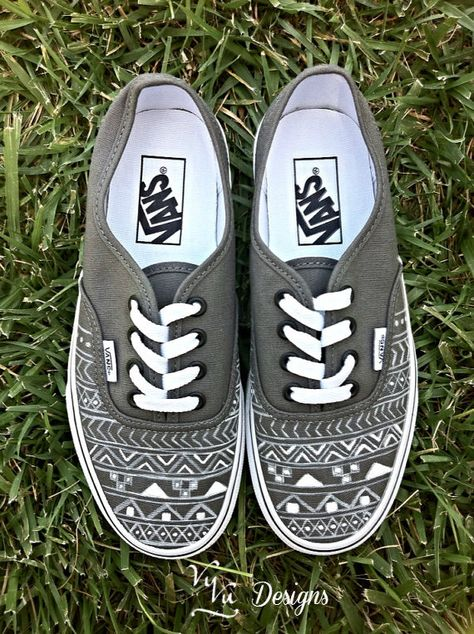 0089c8f698 Gray Aztec Tribal Vans
