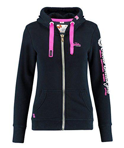 M.Conte Rachel Damen Hooded Sweater Sweat Shirt Jacke S M L