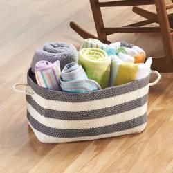 This Hand Knit Storage Bin Is The Perfect Addition To Any Nursery. Offered  In Multiple Sizes, These Soft Bins Are Great For Toys, Blankets, Books, ...