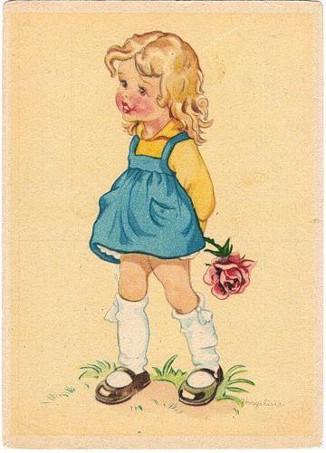 Vintage children's book illustration....The Rose.