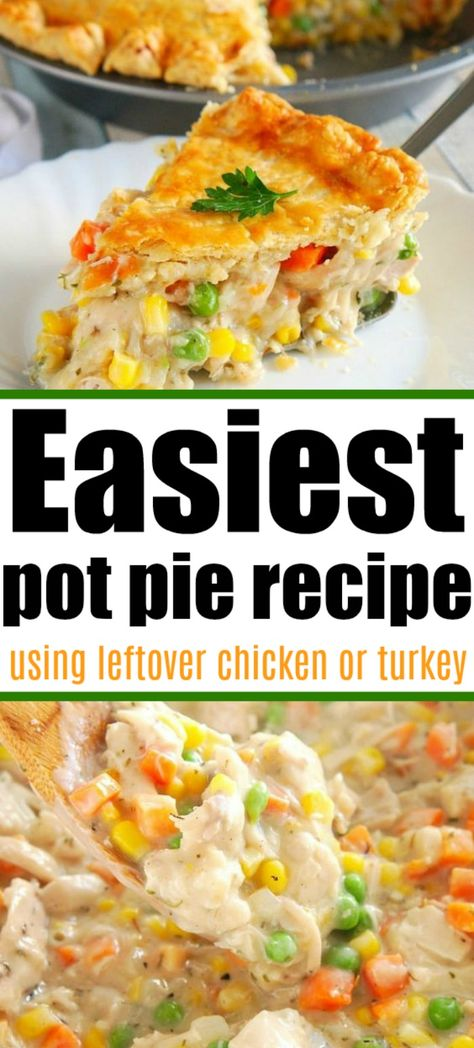 Food Dishes, Main Dishes, Chicken Potpie Recipes, Pot Pie Recipes, Easy Pot Pie Recipe, Chicken Pot Pie Recipe With Bisquick, Homemade Chicken Pie, Simple Chicken Recipes, Simple Dinner Recipes