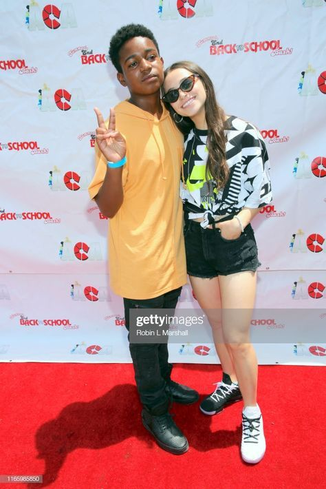Issac Ryan Brown And Sky Katz Attend The 7th Annual Youth Celebrity Swag Outfits For Girls Black Celebrity News Ravens Home Disney