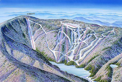 Snowshoe West Virginia James Niehues Map Artist Ski Maps Regional Maps West Virginia Snowshoe Mountain Vacation Spots