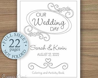 Wedding Coloring Books Etsy In 2020 Wedding With Kids Wedding Coloring Books