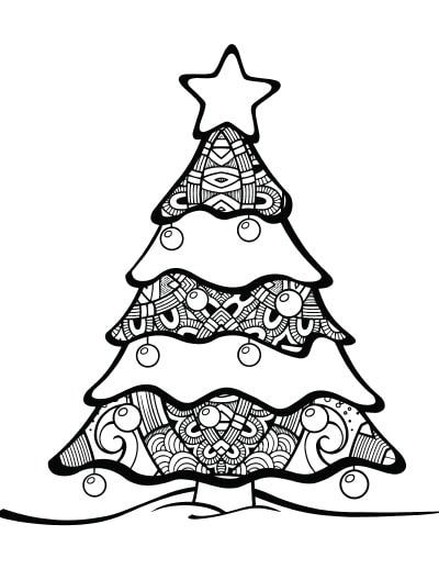 Free Printable Christmas Tree Coloring Pages Christmas Tree Coloring Page Tree Coloring Page Christmas Tree Printable