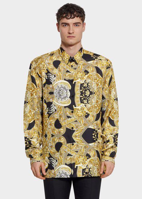d211e1ef6f4373 Silk Twill Barocco Istante Shirt - Versace Shirts