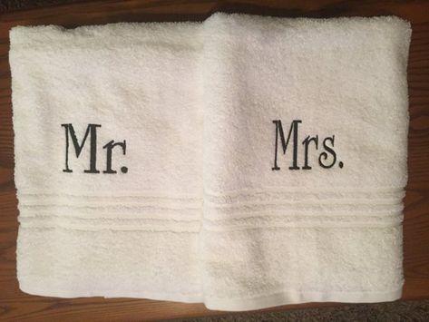 Monogrammed Mr And Mrs Bath Towels Monogram Towel Set Mr