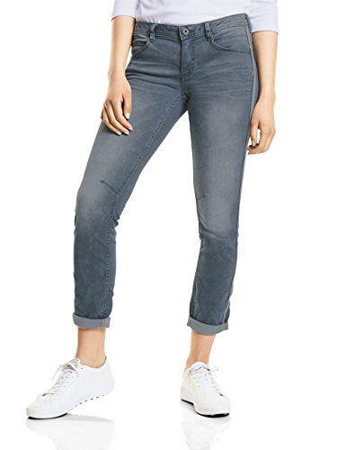 Street One Damen Slim Jeans 371235 Crissi Grau (Authentic