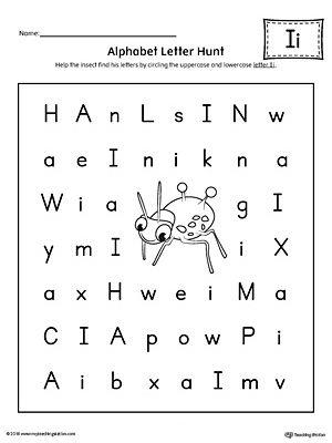 Alphabet Letter Hunt Letter I Worksheet Alphabet Letter Hunt Letter I Worksheet Lettering Alphabet Letter hunt worksheet kindergarten