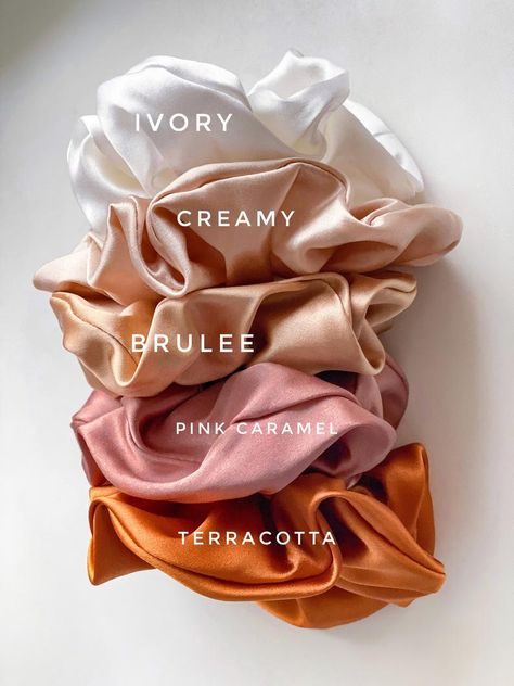 A silk scrunchy for your hair. Made out of soft silk satin and with firm elastic inside. All our scrunchies are made of real silk so they are sleek and gentle on damaged hair. Diy Hair Scrunchies, Diy Accessoires, Silk Hair, Diy Hairstyles, Scrunchy Hairstyles, Diy Clothes, Girly, How To Make, Etsy