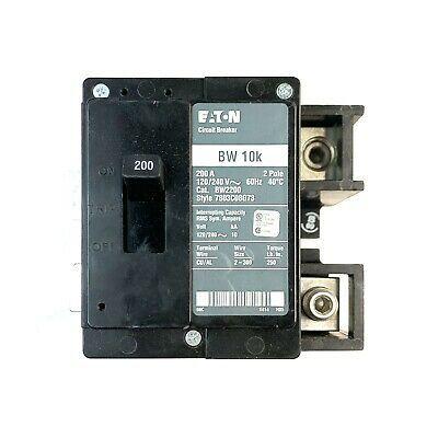 Sponsored Ebay Cutler Hammer Bw2200 Bw 10k 200 Amp 2 Pole 120 240 Vac Main Circuit Breaker In 2020 Safety Switch Breakers Circuit
