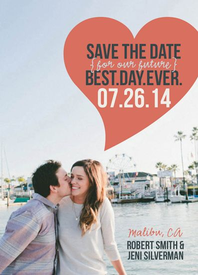 save the date cards - Best.Day.Ever.