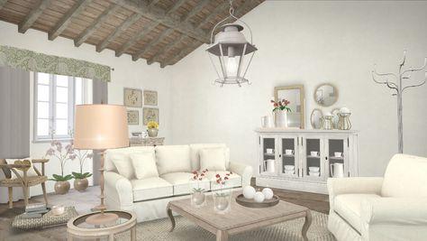 Beautiful Shabby Chic Interiors Soggiorno Images - Modern Home ...