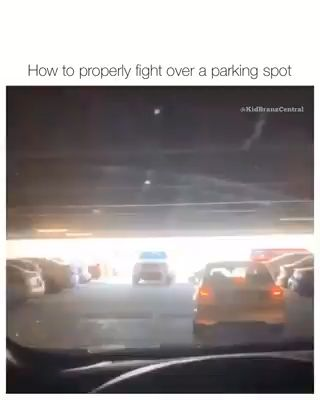 How to Properly Fight Over a Parking Space