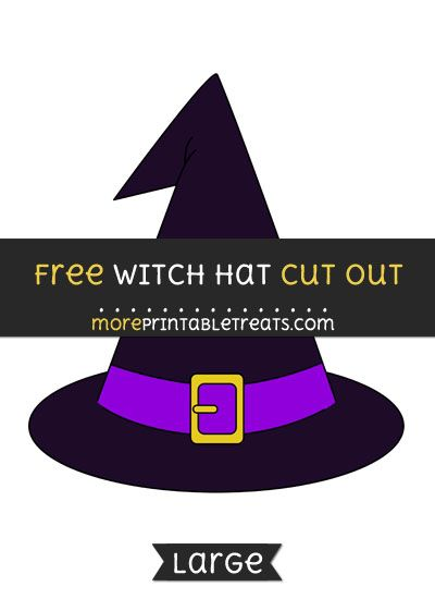 photograph relating to Witch Hat Printable called Totally free Witch Hat Slice Out - Huge dimension printable Halloween