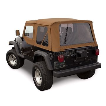 Sierra Offroad 1997 2002 Tj Wrangler Soft Top And Upper Door Skins Tinted Windows In Spice Jeep Wrangler Soft Top Jeep Wrangler Jeep Wrangler Tj