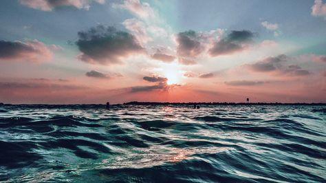 Desktop Wallpaper Laptop Mac Macbook Air Nf44 Sunset Sea Sky Ocean