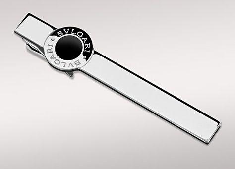 31ebd729c257 BVLGARI BVLGARI tie bar in sterling silver and enamel.