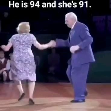 How great are these two. Age is just a number and dancing is timeless