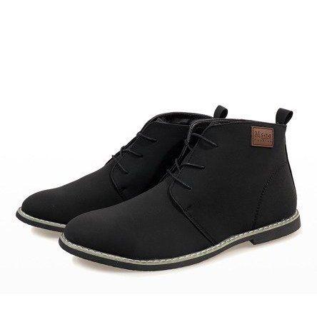 Czarne Ocieplane Polbuty Meskie 989 2 Boots Chukka Boots Shoes